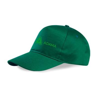 Casquette verte avec logo vert