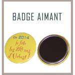 Badge aimant