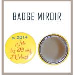 Badge miroir