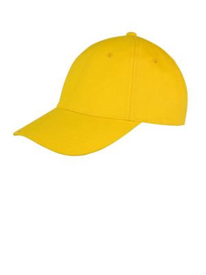 Casquette jaune recadrée