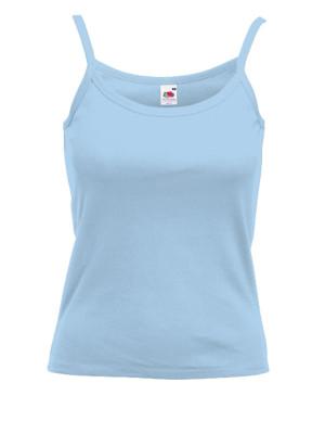 Tshirt bretelle bleu recadré